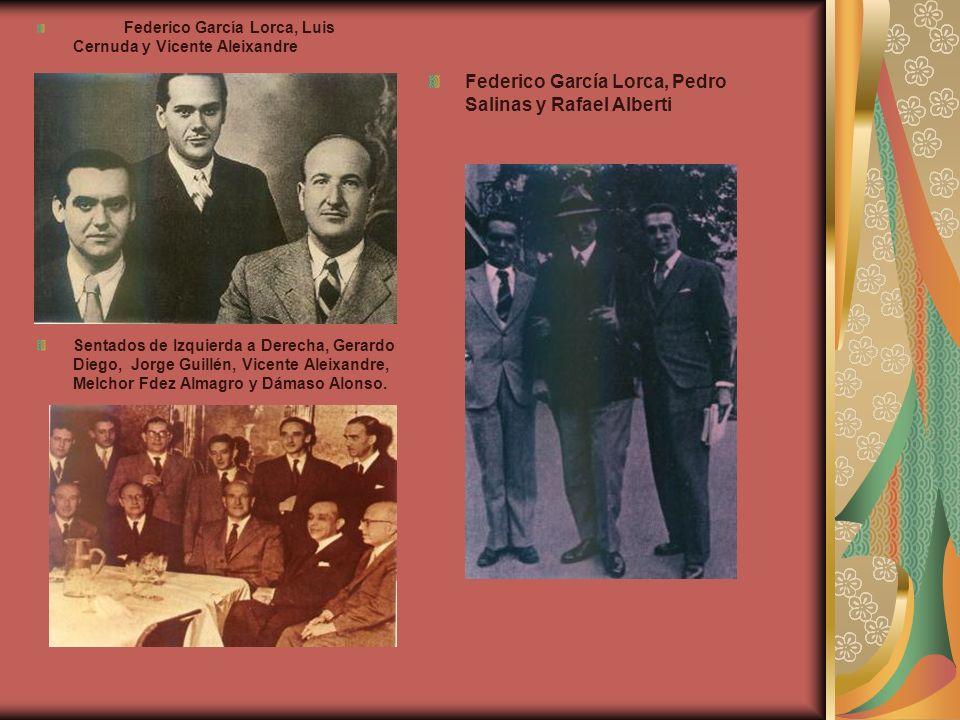 Federico García Lorca, Pedro Salinas y Rafael Alberti