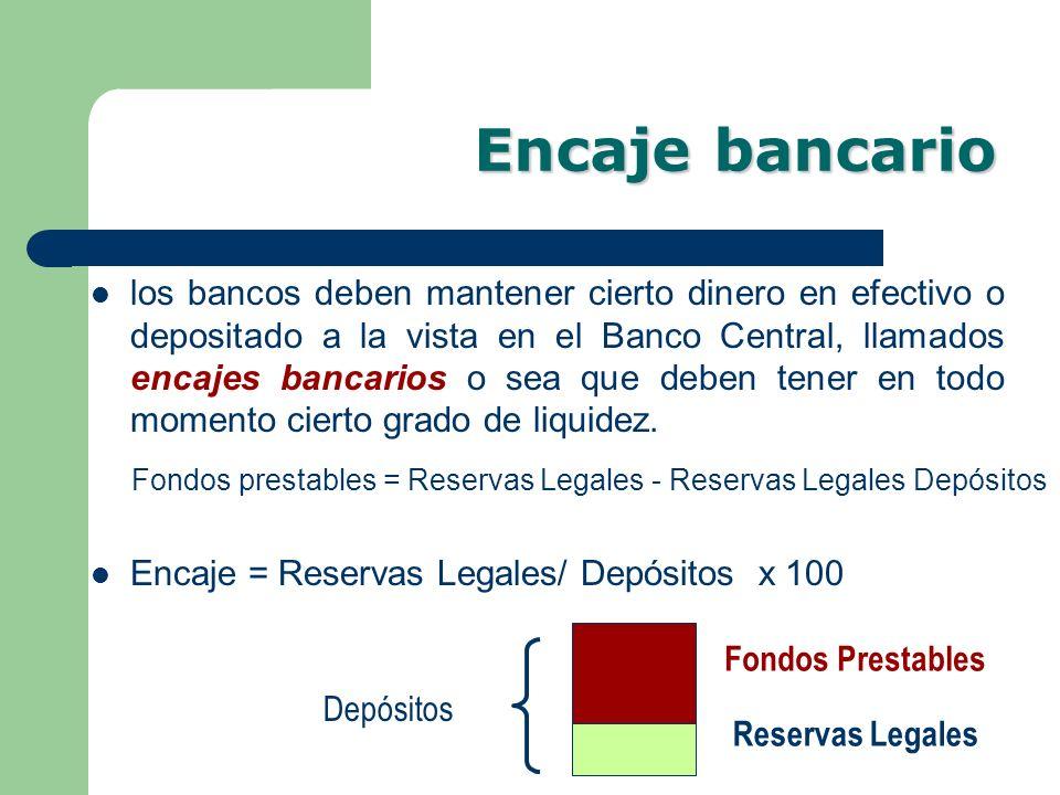 Encaje bancario