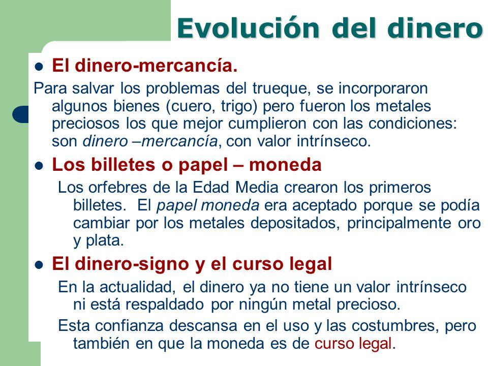 Evolución del dinero El dinero-mercancía.