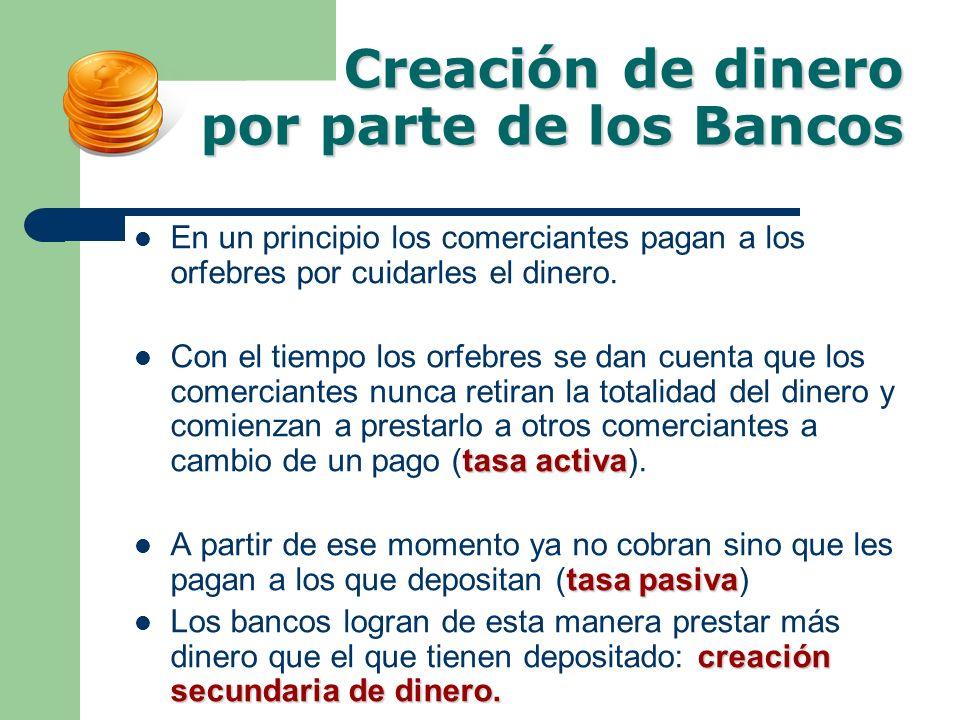 Creación de dinero por parte de los Bancos