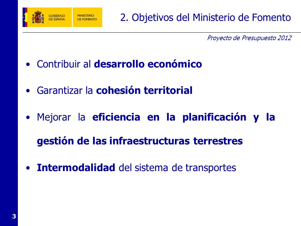 3. Medidas Austeridad y reducción del gasto. Planificación realista y eficiente. Selección de proyectos prioritarios.