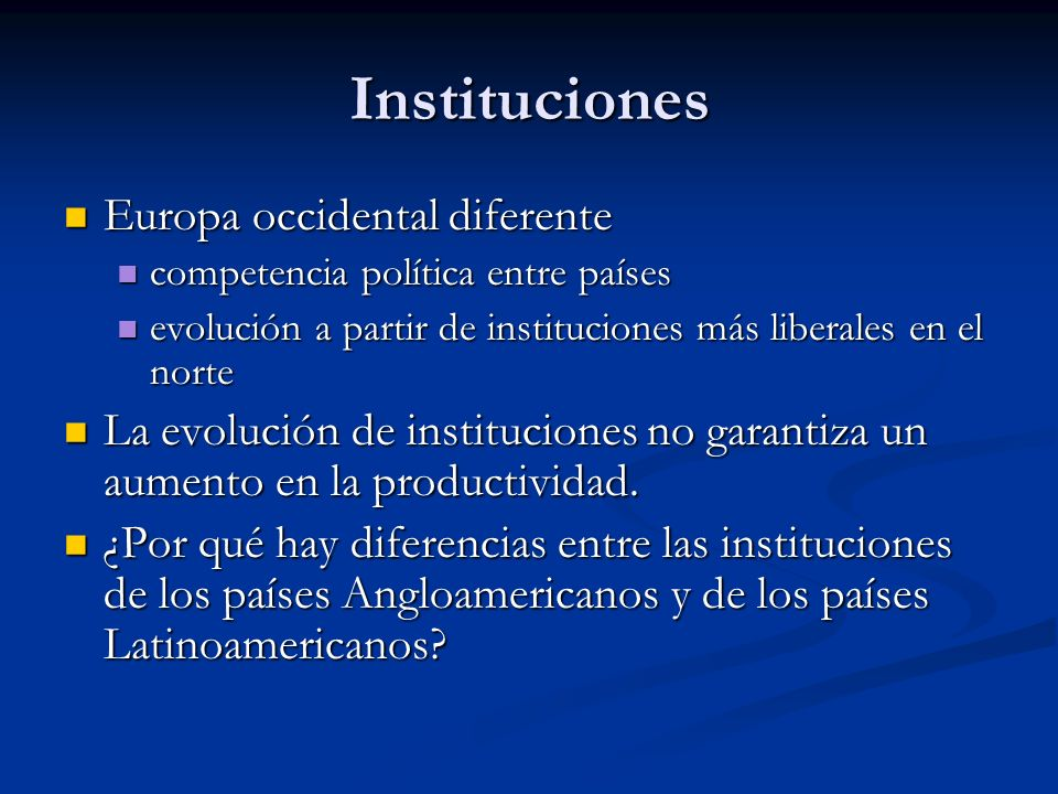 Instituciones Europa occidental diferente