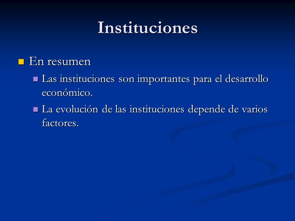 Instituciones En resumen