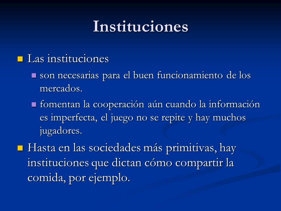 Instituciones Las instituciones