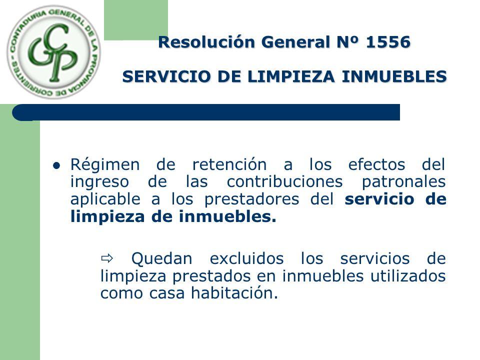 Resolución General Nº 1556 SERVICIO DE LIMPIEZA INMUEBLES