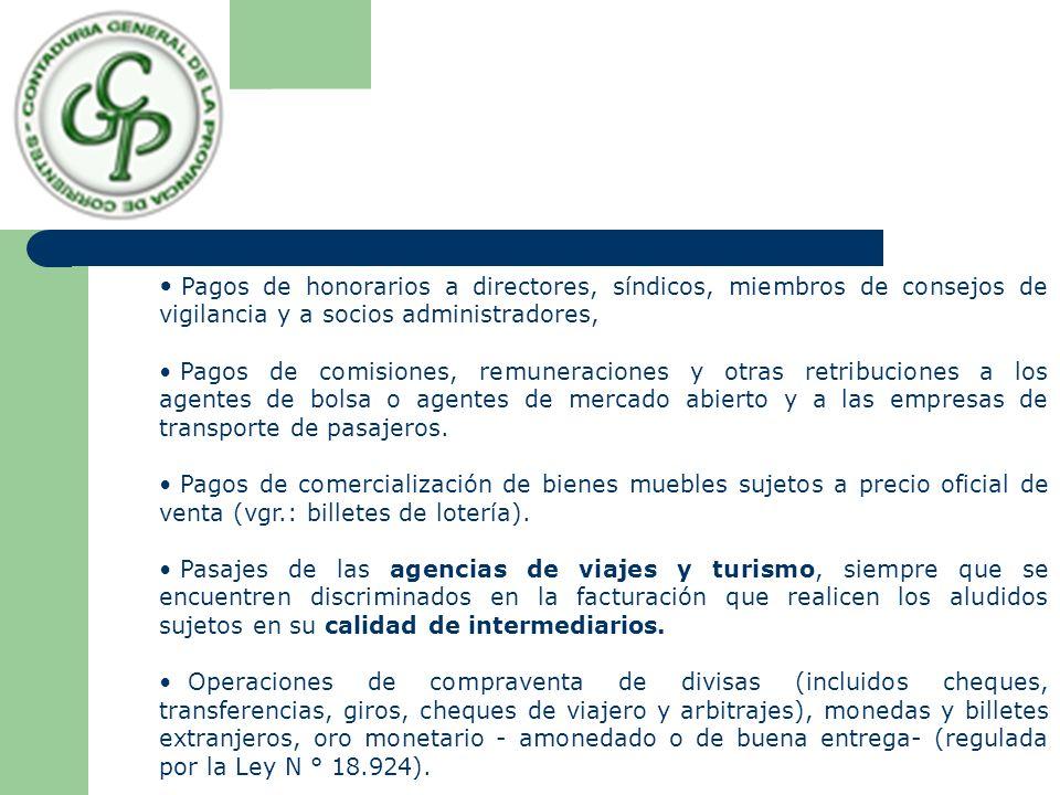Pagos de honorarios a directores, síndicos, miembros de consejos de vigilancia y a socios administradores,
