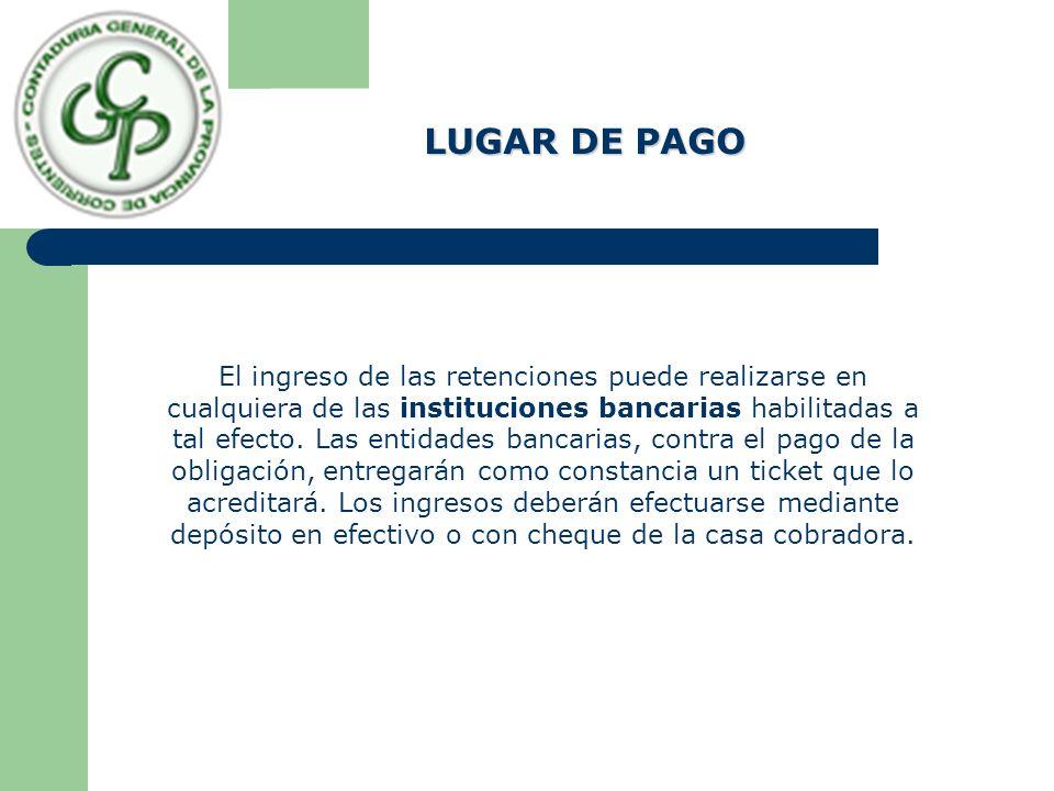 LUGAR DE PAGO