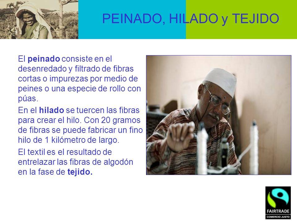PEINADO, HILADO y TEJIDO