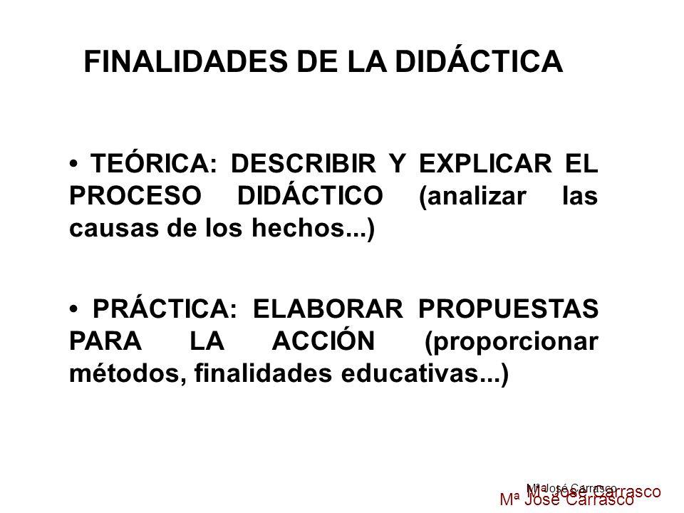 FINALIDADES DE LA DIDÁCTICA