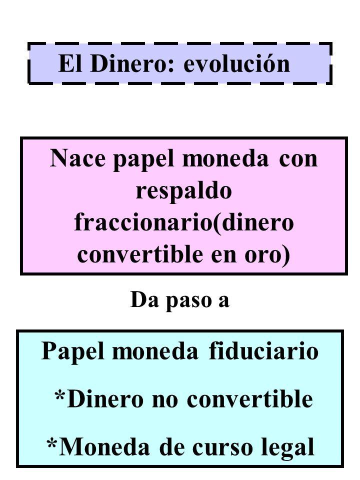 Nace papel moneda con respaldo fraccionario(dinero convertible en oro)