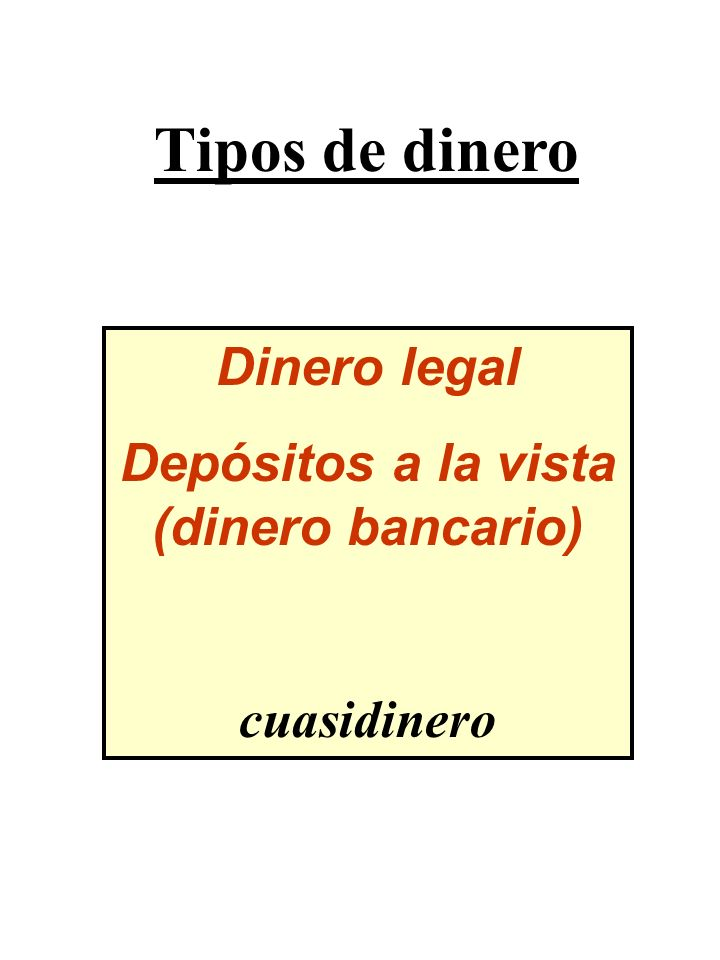 Depósitos a la vista (dinero bancario)
