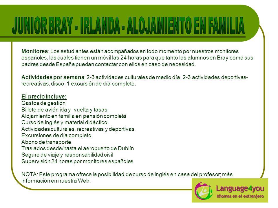 JUNIOR BRAY - IRLANDA - ALOJAMIENTO EN FAMILIA