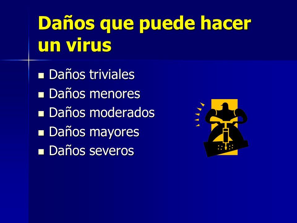 Daños que puede hacer un virus