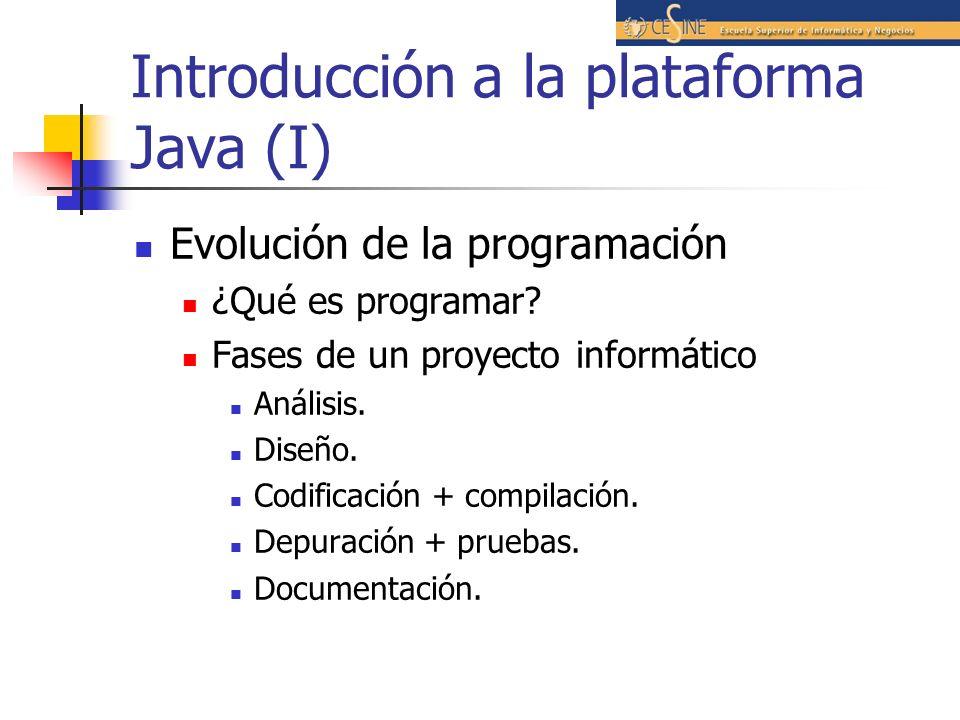 Introducción a la plataforma Java (I)