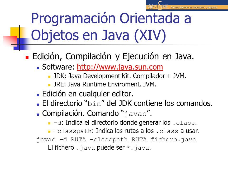 Programación Orientada a Objetos en Java (XIV)