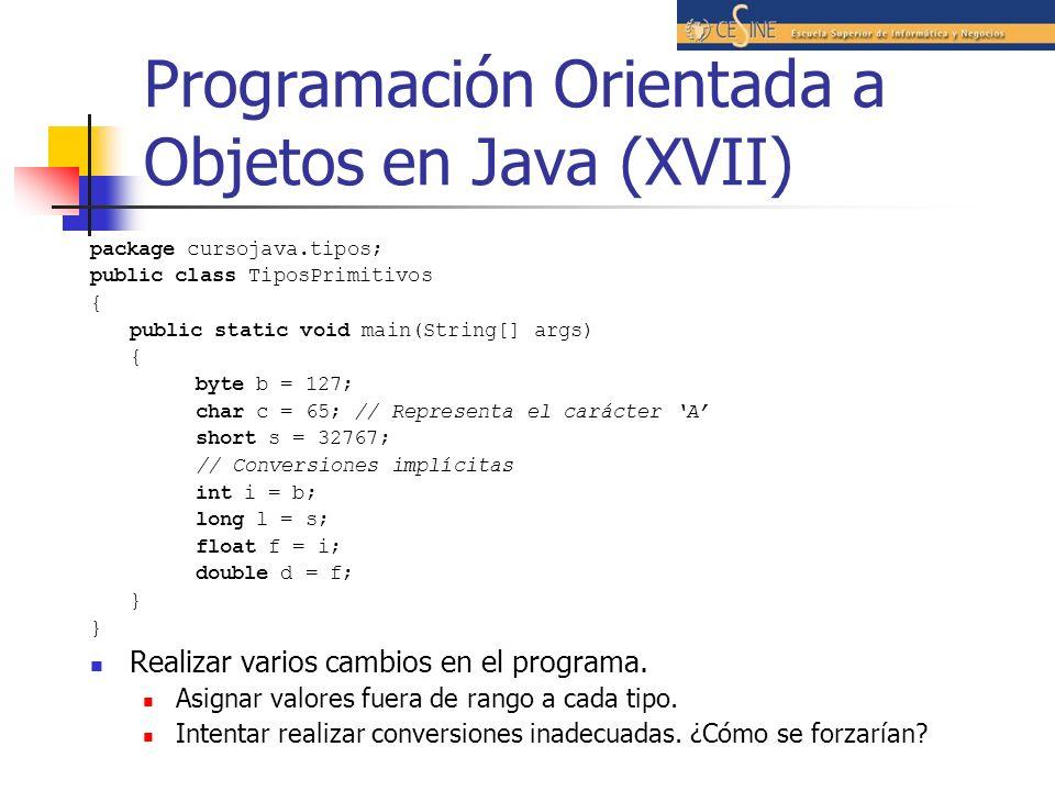 Programación Orientada a Objetos en Java (XVII)