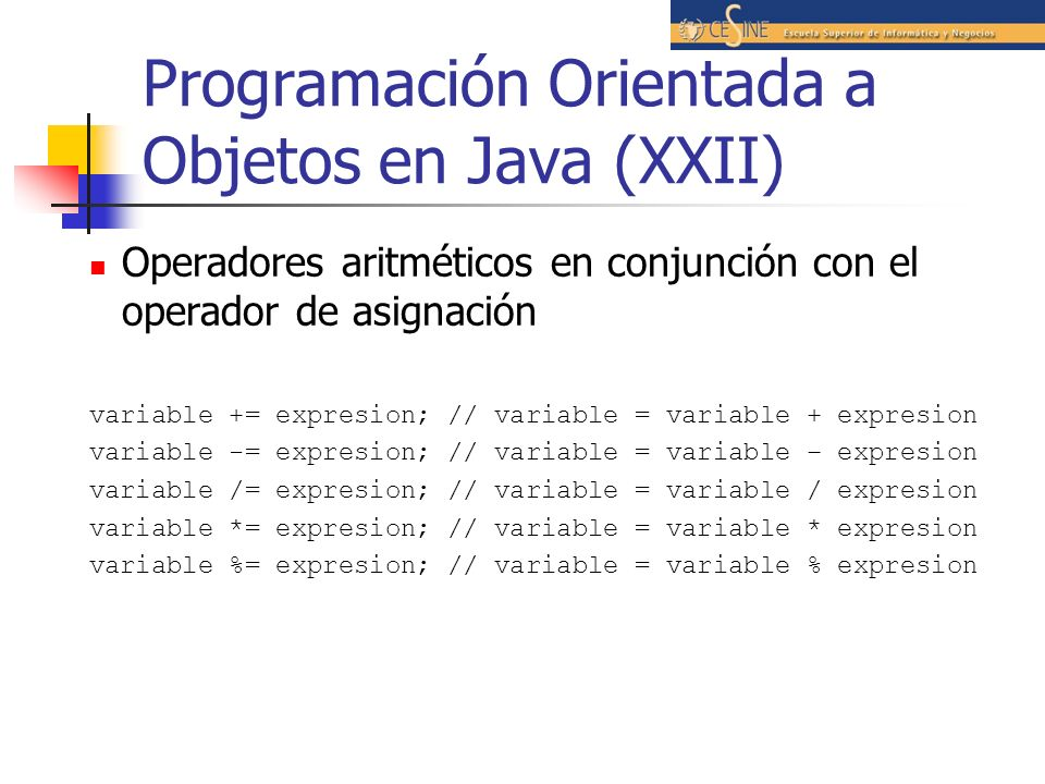 Programación Orientada a Objetos en Java (XXII)