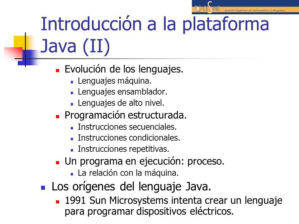 Introducción a la plataforma Java (II)