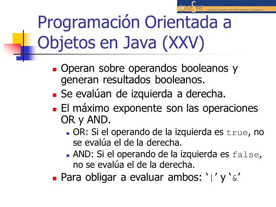 Programación Orientada a Objetos en Java (XXV)