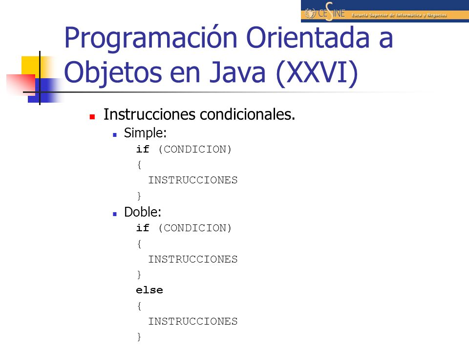 Programación Orientada a Objetos en Java (XXVI)