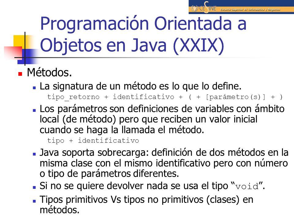 Programación Orientada a Objetos en Java (XXIX)