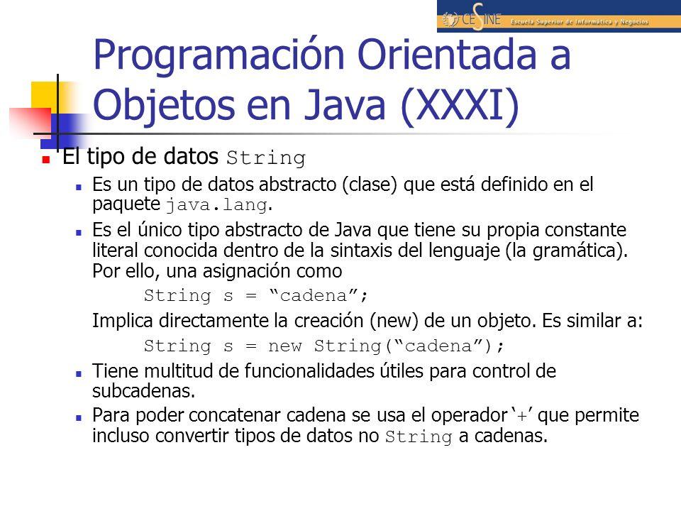 Programación Orientada a Objetos en Java (XXXI)