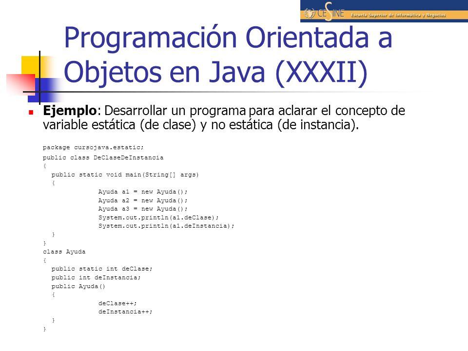 Programación Orientada a Objetos en Java (XXXII)