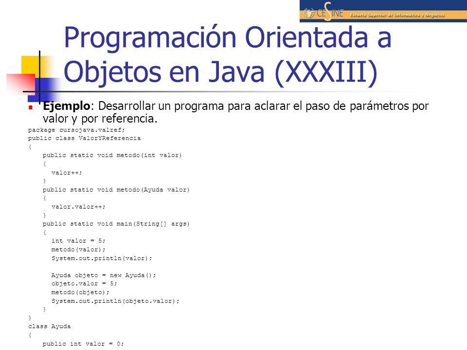 Programación Orientada a Objetos en Java (XXXIII)