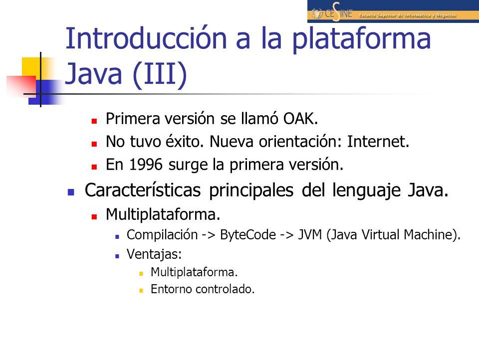 Introducción a la plataforma Java (III)