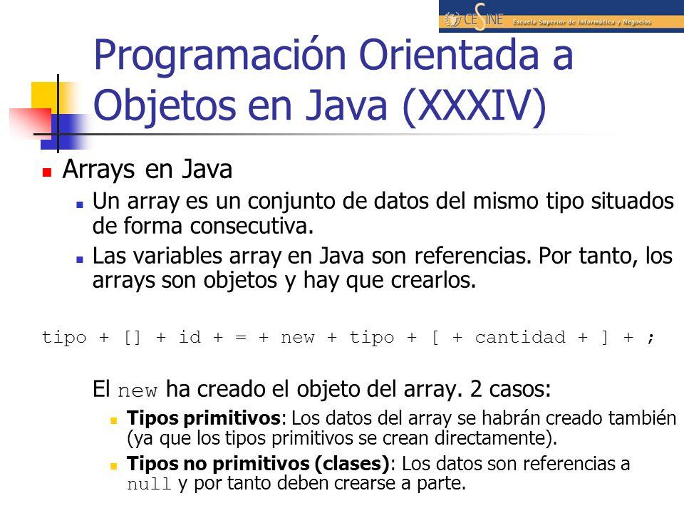 Programación Orientada a Objetos en Java (XXXIV)