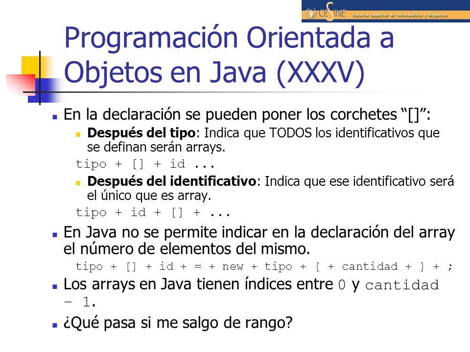 Programación Orientada a Objetos en Java (XXXV)
