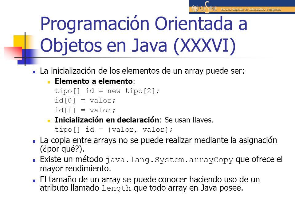 Programación Orientada a Objetos en Java (XXXVI)