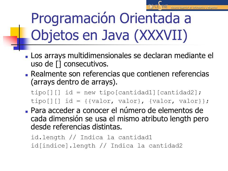 Programación Orientada a Objetos en Java (XXXVII)