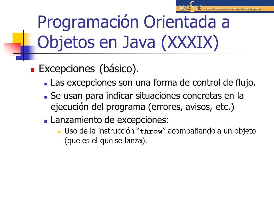 Programación Orientada a Objetos en Java (XXXIX)