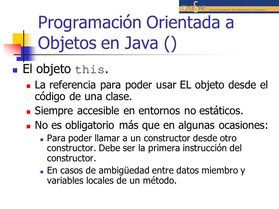 Programación Orientada a Objetos en Java ()