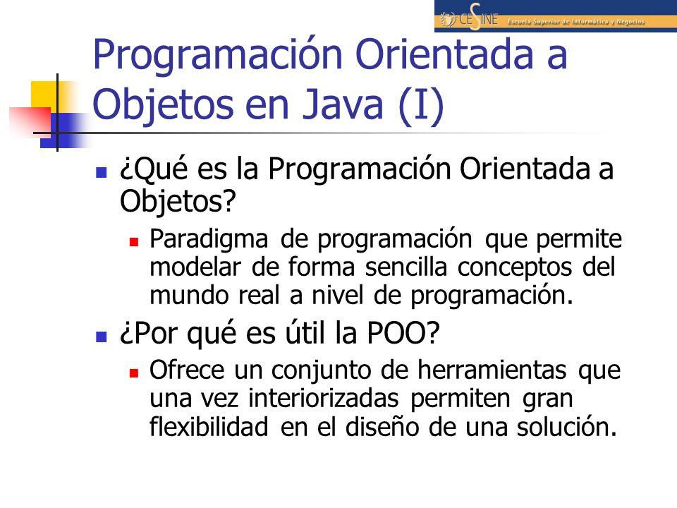 Programación Orientada a Objetos en Java (I)