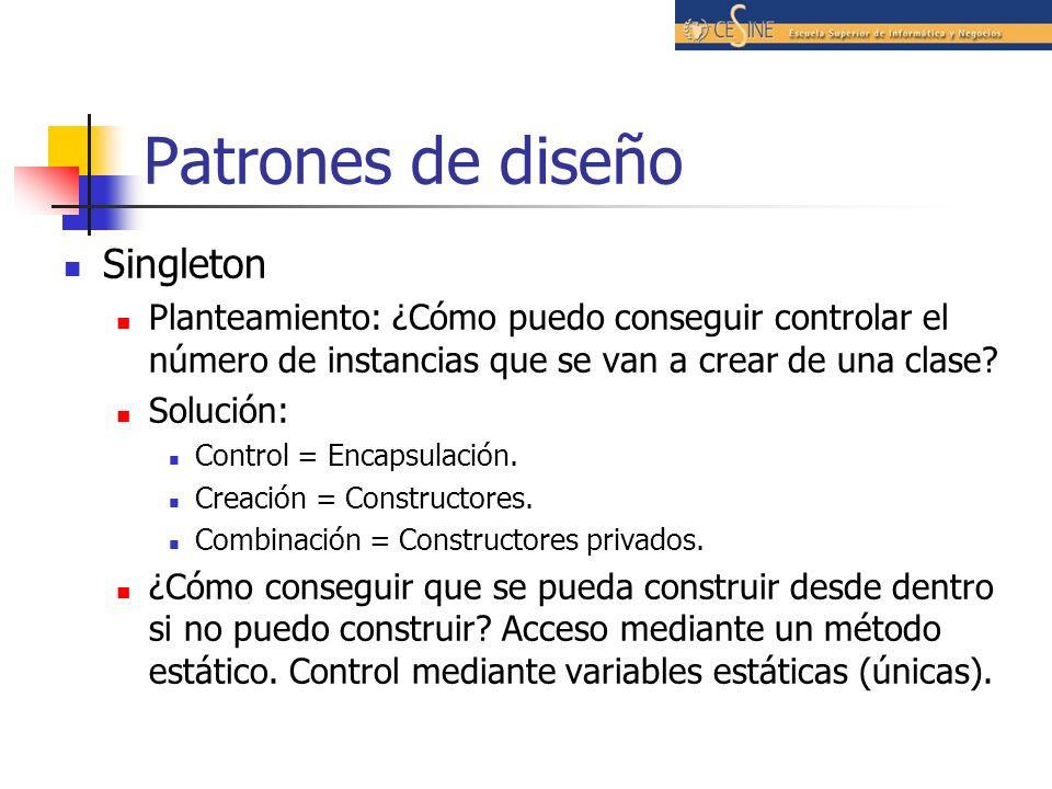 Patrones de diseño Singleton