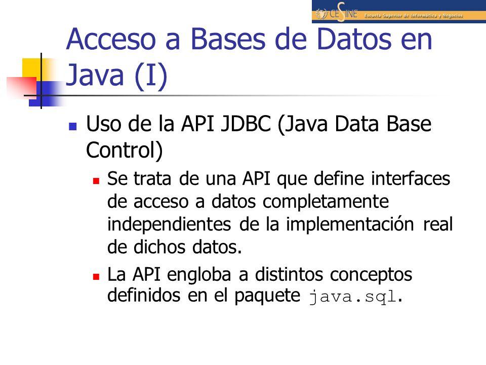 Acceso a Bases de Datos en Java (I)