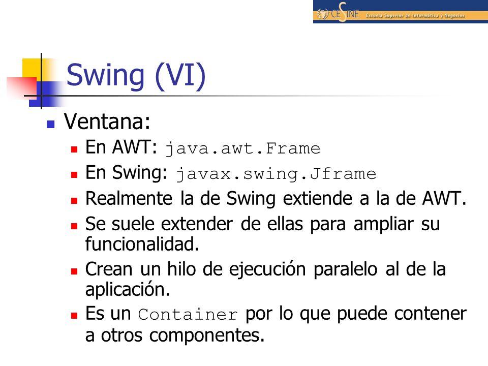 Swing (VI) Ventana: En AWT: java.awt.Frame