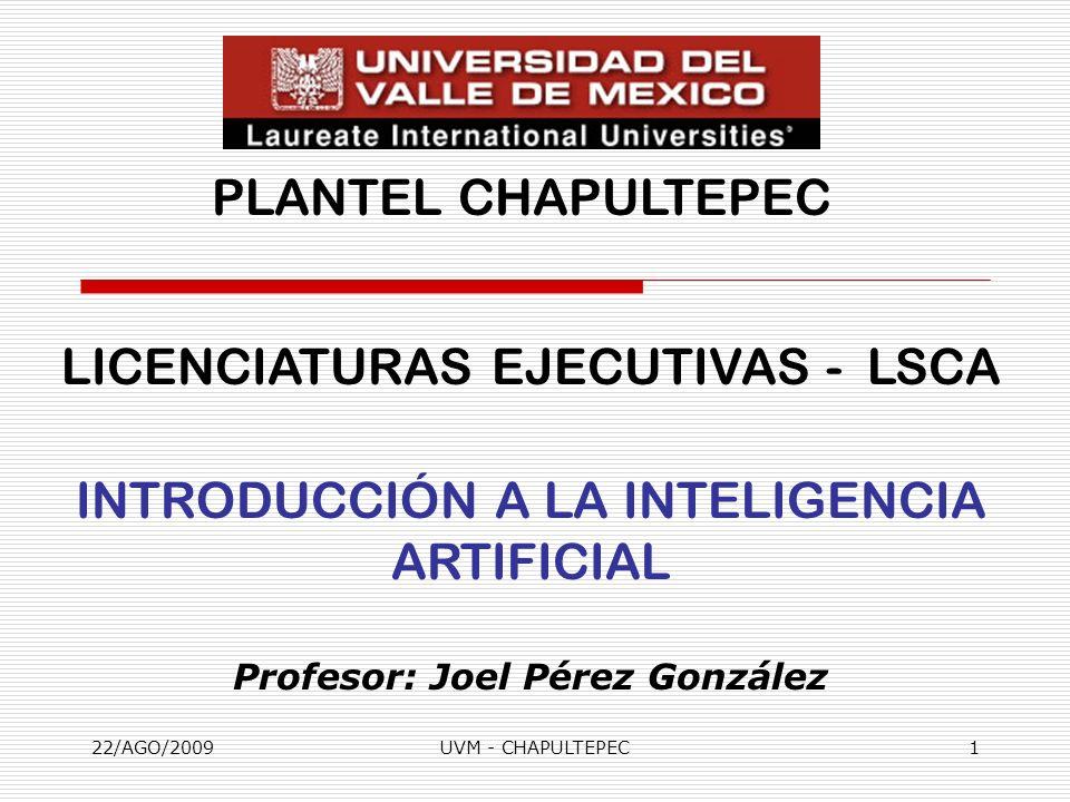 Profesor: Joel Pérez González