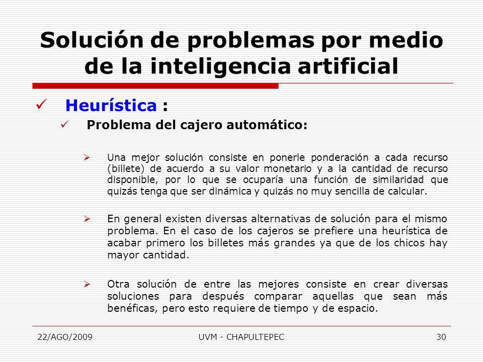 Solución de problemas por medio de la inteligencia artificial