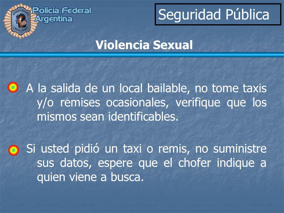 Seguridad Pública Violencia Sexual