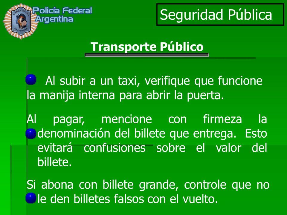 Seguridad Pública Transporte Público