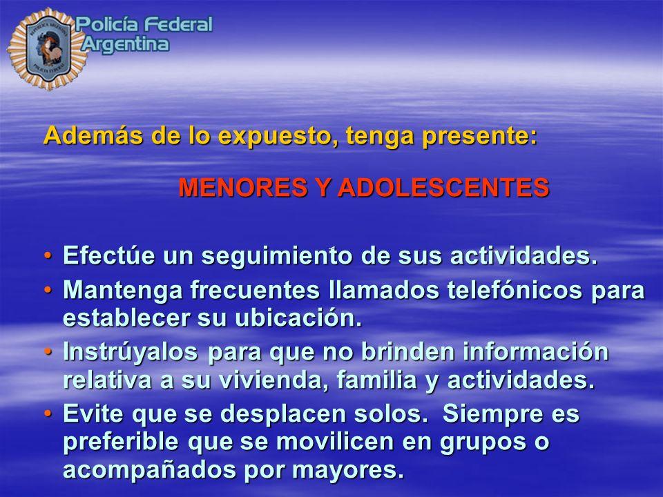 MENORES Y ADOLESCENTES