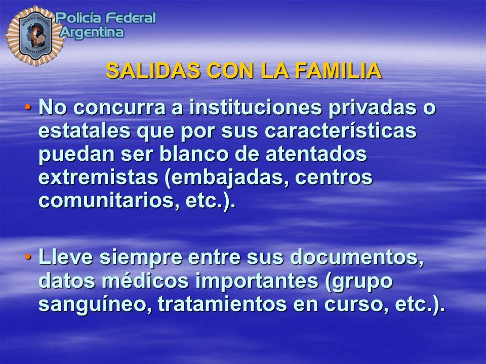SALIDAS CON LA FAMILIA