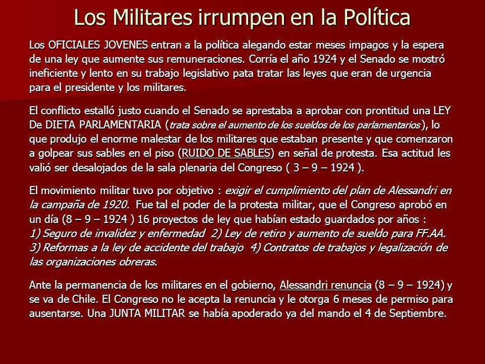 Los Militares irrumpen en la Política