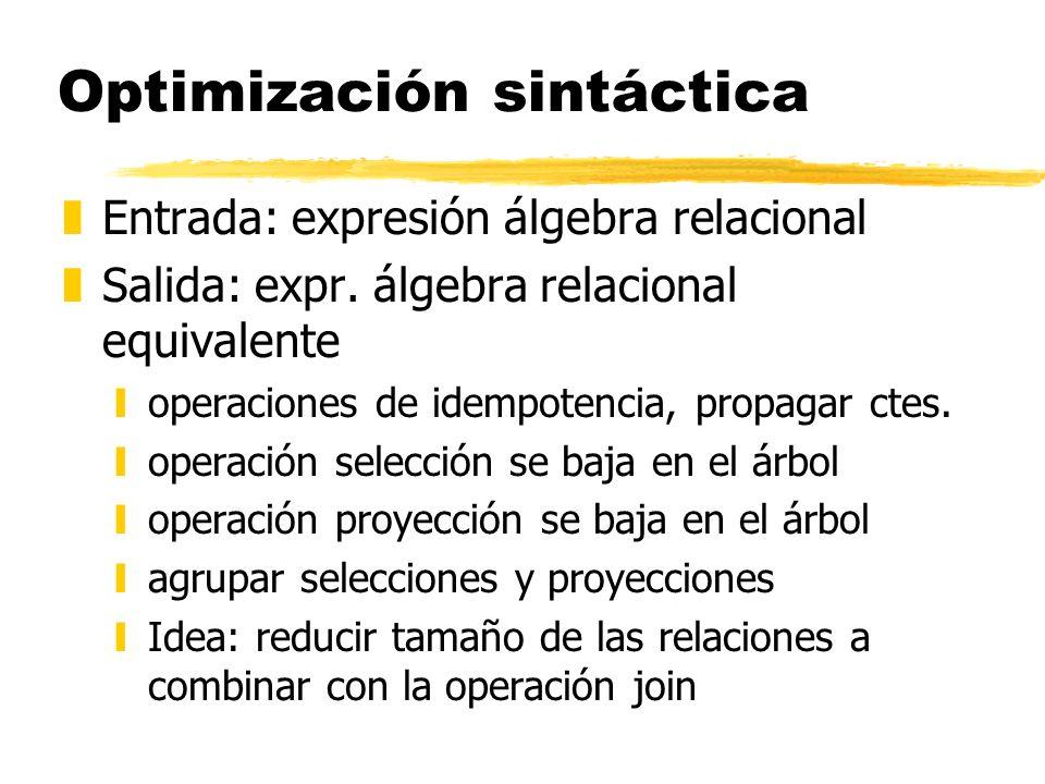 Optimización sintáctica