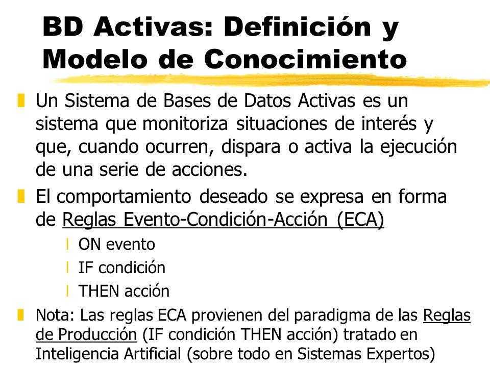 BD Activas: Definición y Modelo de Conocimiento