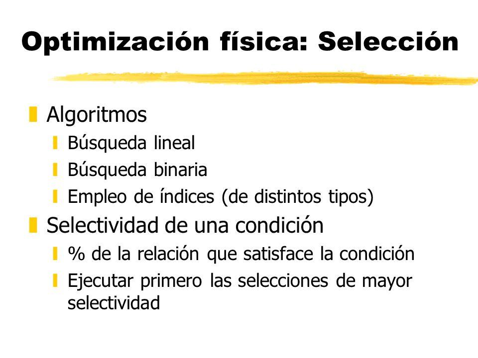 Optimización física: Selección