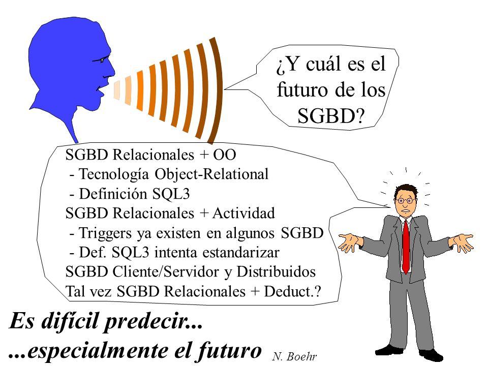 ¿Y cuál es el futuro de los SGBD